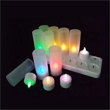 Rechargeable LED tealight candle 12 set remote colour changing party AUS plug
