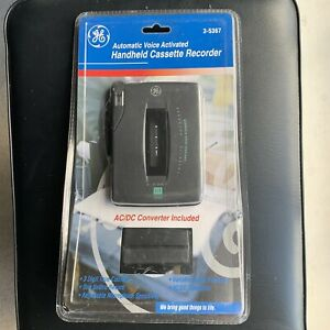GE Automatic Voice Activated Handheld Cassette Recorder New In Sealed Pkg 3-5367