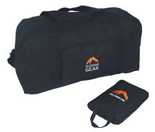 Extra Large Strong Black Holdall Travel Bag XXXL Size Folds Small Opens BIG 60L