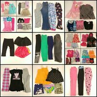 Huge Lot 4T Girls Clothing Toddler Mixed Collection Outfits Tops Pants Shirts PJ
