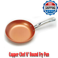 Copper Chef 8 Inch Round Fry Pan Dishwasher Safe Home Kitchen Cookware, Nonstick