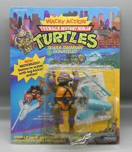 1989 Playmates TMNT Sewer Swimmin DON Ninja Turtles Wacky Action DONATELLO moc !