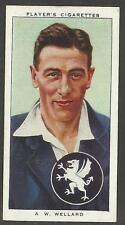 PLAYER'S 1938 CRICKETERS  A.W. Wellard Card No 31 of 50 CRICKET CIGARETTE CARDS