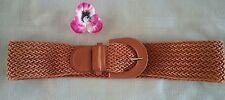 Jeanswest women's woven belt tan size S