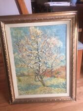 Rare Vincent Van Gogh Peach Tree In Blossom Reofect Framed Painting 30 X 25 Nice