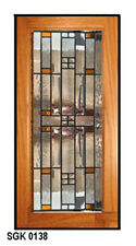 Kitchen Cabinet Art Glass  Stain Glass door Insert window  WOW