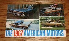 Original 1967 AMC American Motors Full Line Sales Brochure 67 Rebel Rambler