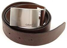 Calvin Klein Mino Plaque Belt W100 Gürtel Leder Herren Braun Brown