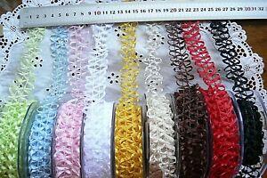 Lattice Braid Loose Grosgrain Wired Ribbon 2 Metres 25mm 9 Colour Choice MA