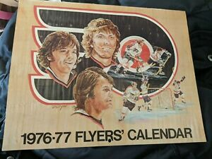 Philadelphia Flyers 1976 Signed Calendar Barry Ashbee PSA/DNA Quick Opinion