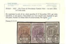 ITALIA – 1923 – Pro Cassa di Previdenza Camicie Nere -  la serie