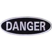 Danger Patch Iron Sew On T Shirt Jeans Jacket Cap Hat Bag Sign Embroidered Badge