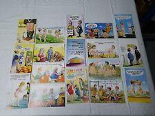 Job Lot 17 Vintage Seaside Humour Comic Postcards all unused (L5)