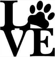 VINILO DECORATIVO ANIMALES COCHE PARED DECORACION -LOVE- PEGATINA STICKER DECAL