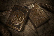 Medallions Theory11 Deck Gold Black Metallic Bicycle Playing Cards Elegant USPCC