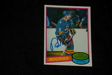 ROB RAMAGE 1980-81 TOPPS ROOKIE SIGNED AUTOGRAPHED CARD #213 ROCKIES