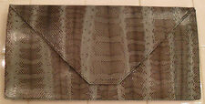 NEW BEIRN Extra Large Slate Snake-Embossed Envelope Clutch