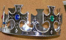SCHOOL SPECIAL PROMS ETC CROWN PLASTIC WITH STONES  ONE DOZEN  ONE FITS ANYONE