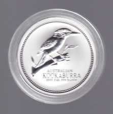 2003 $2 Kookaburra Two ounce 2oz  Silver Coin Perth Mint Australia