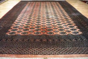Schöner Signierter schöner Buchara 325x225 cm Orient Teppich 5049 Keschan Nain