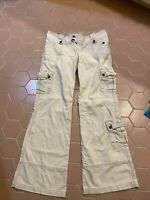 Ambercrombie & Fitch Cargo Pants Size 6 Cream Beige Lots Of Pockets EUC
