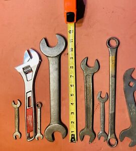 Vintage Wrench Lot, Milwaukee 10'' Adjustable 48-22-7410,  Barcalo Buffalo Etc..