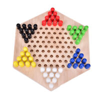 1PC Most Popular Traditional Hexagon Wooden Chinese Checkers Family Game Set YAN