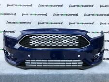 FORD FOCUS 2015-2018 FRONT BUMPER IN BLUE WITH GRILL GENUINE [F442]