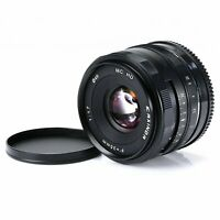 35mm F1.7 Manual Focus Prime Lens for Micro M4/3 Olympus Panasonic Camera