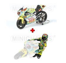 1:12 Minichamps Aprilia 250 GP + Figure Valentino Rossi Mugello 1999 NEW