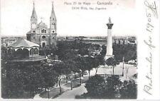 Concordia, Entre Rios, Argentina - Plaza 25 de Mayo - postcard, stamp 1905