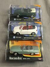 3x New-Ray Spritzguss 1:43 Modell - u.a. Mercedes 350SL & VW Golf - unbespielt