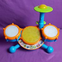 Vtech Kidi Beats Kids Drum Set Interactive Lights Sound Baby Toddler Musical Toy