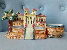 Vintage ceramica vasetto Bassano Sanremo casinò tipo figurale mignon profumo