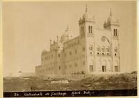 Albert, Tunisie, Carthage (قرطاج), Cathédrale de Carthage  Vintage albumen print