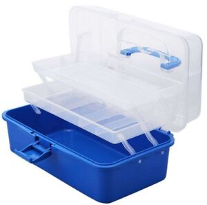 Artist Art and Craft Tool Compartment Box Beads Sewing Hobby Secure Storage Box