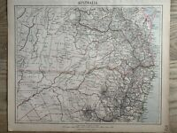 1889 NORTHERN NEW SOUTH WALES & SOUTHERN QUEENSLAND MAP BY LETTS, SON & Co.