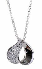 Swarovski Elements Crystal Heart Pendant Necklace Rhodium Plated New 7132y