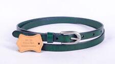 NBE14 Green Cute Women's Genuine Leather Thin Cowhide Belt Waistband Pin Buckle
