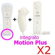 2x 2in1 NUNCHUCK+MOTION PLUS+REMOTE TELECOMANDO CONTROLLER Wii