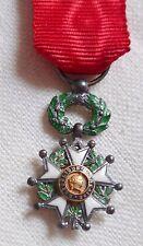Médaille MINIATURE REDUCTION Croix Chevalier LÉGION D'HONNEUR ancienne argent