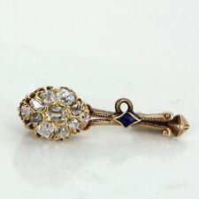 Halley's Coment Diamond Brooch Antique Victorian Vintage 15k Gold Fine Heirloom