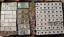 New listing Mixed Lot Junk Drawer Collectibles,Stamps, Cards,Silver Coins & More