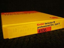 Kodak Vericolor III 3 Type S 4106 Film - 10 sheets - 4 x 5 in. - # 142 6790