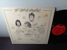 THE WHO BY NUMBERS POLYDOR HOLLAND IMPORT NM 2490-129