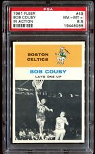 1961 Fleer #49 *BOB COUSY IA* PSA 8.5! CENTERED! pop= 6! 20x rarer vs PSA 8!