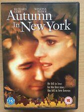 Richard Gere Winona Ryder AUTUMN IN NEW YORK ~ Romantic Drama / Weepie | UK DVD
