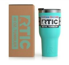 RTIC 40oz Tumbler, Hot Cold, Double Wall Vacuum Insulated TEAL, Lid