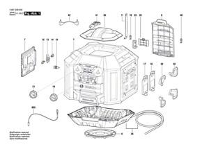 BOSCH GML 50 Akku-Radio original Bosch Ersatzteile