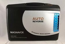 MAGNAVOX AQ6587 Stereo Radio Cassette Player w/ MAGNAVOX AY3640 Headphones    CL